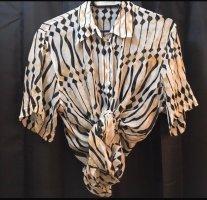 Vintage Bluse transparent oversize Seide