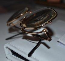 Vintage Glasses gold-colored-black