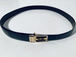Burberry Cinturón de cuero negro-color oro Cuero