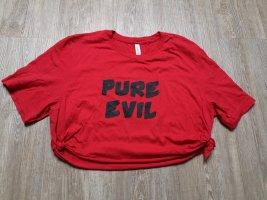 Canvas T-shirt court noir-rouge