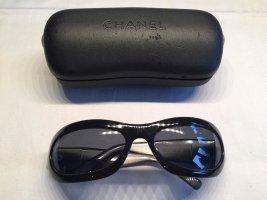 Chanel Occhiale da sole nero-grigio chiaro Materiale sintetico