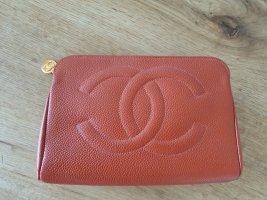 Chanel Pochette orange leather