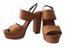 Chloé Platform High-Heeled Sandal brown