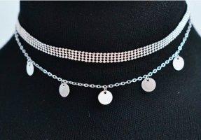 Vintage Chocker Halskette in Silber