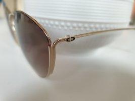 Christian Dior Occhiale a farfalla oro-marrone