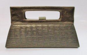 Vintage Borsa telaio bronzo-oro Tessuto misto