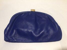 Vintage Clutch royalblaues Leder