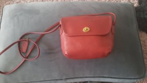 Coach Handbag dark red leather
