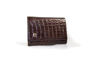 Vintage Portafogli marrone-nero Pelle