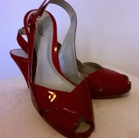 Gabor Slingback Pumps red leather
