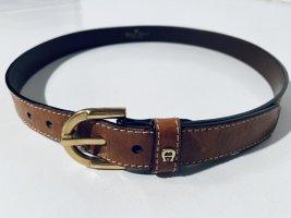 Etienne Aigner Cinturón de cuero color oro-coñac Cuero