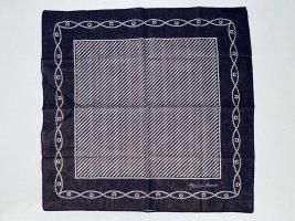 Vintage Etienne Aigner Tuch aus Baumwolle in Braun und Weiß