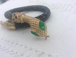Sztywna bransoletka czarny-zielony