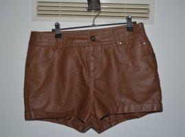 Vintage Faux Leder Shorts
