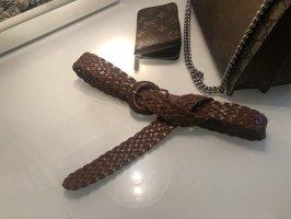 The Vintage Shop Leather Belt brown-cognac-coloured