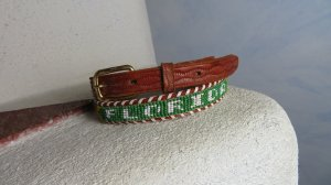 Vintage Cinturón de cuero multicolor