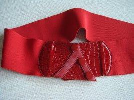 Vintage Fabric Belt brick red