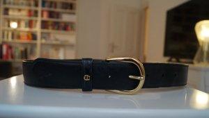 Aigner Cintura di pelle nero-oro Pelle