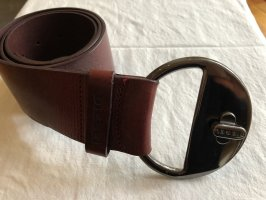 Diesel Leather Belt carmine leather