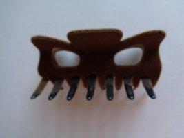 Vintage Hair Clip cognac-coloured