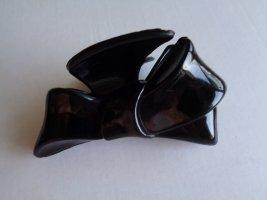 Vintage - Haarspange Haarkrebs Klammer Spange Haarstecker schwarze Schleife - unkaputtbar