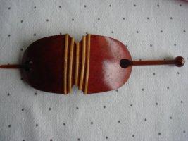 Vintage Épingle à cheveux rouille-abricot