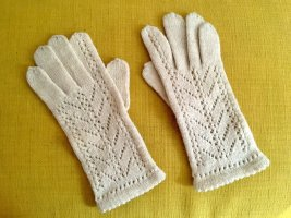 Vintage Knitted Gloves white