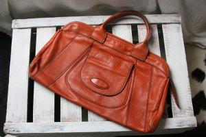 Vintage Handtasche aus rostrotem Echtleder!
