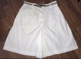 Vintage high waist Shorts weiß Cotton