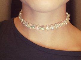 Vintage Hologramm Herzen Chocker Halskette