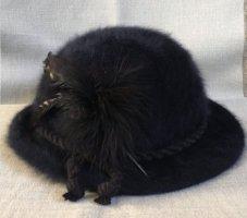 Chapeau melon bleu foncé