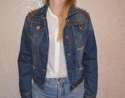 Vintage Jeans Jacke mit Nieten