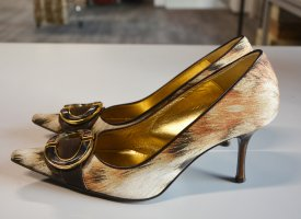 Vintage Just Cavalli Decolette Pumps Animal Leopard Print Topzustand 38