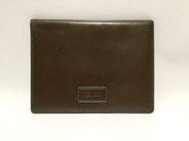 Vintage Kenzo Geldbörse/Kartenetui - grünes Leder