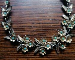 Collana argento-blu