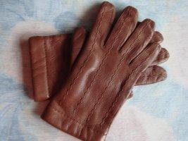 Vintage Gants en cuir rouille cuir