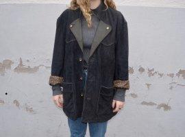 Vintage Leder Mantel Oversized