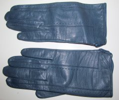 Leather Gloves cornflower blue leather