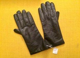 Vintage Lederhandschuhe mit Cashmere, Gr. 7 1/2