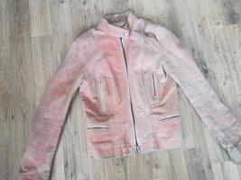 Vintage Lederjacke rot-rosé Ton