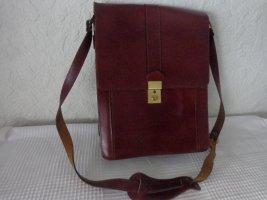 Handbag carmine leather