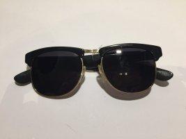 Linda farrow luxe Gafas de sol negro-color oro