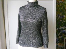 Vintage Maglione dolcevita nero-argento