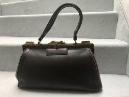 Bowling Bag black brown leather