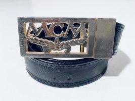 MCM Leather Belt black-gold-colored leather