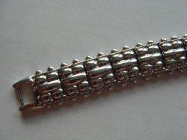 Vintage - Metall Armband Armkette silbrig schwer - 90er Jahre - Modeschmuck ungetragen
