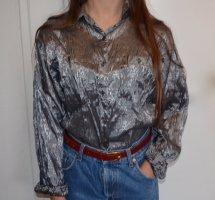 Vintage Metallic Shirt Oversized