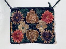 Vintage Mini-Handtasche aus Samt mit Stickereien crossbody