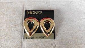 Monet Boucles d'oreille en or doré