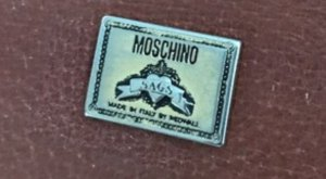 Vintage Moschino Luxus Designer Redwall Bag Tasche Leder